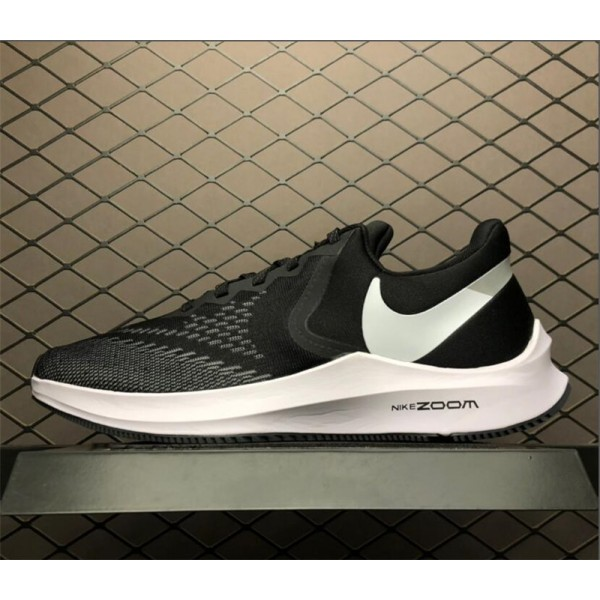 Nike Zoom Winflo 6 Black White Shoes AQ7497-001 For Men