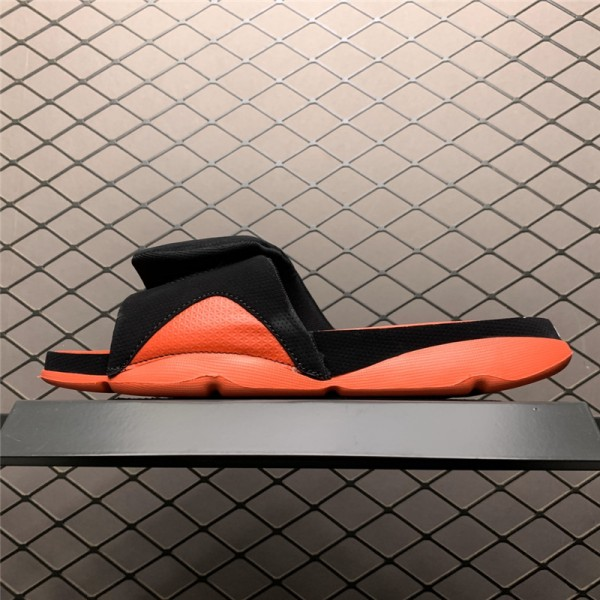 Jordan 4 Hydro Black Orange Slide Sandals For Men