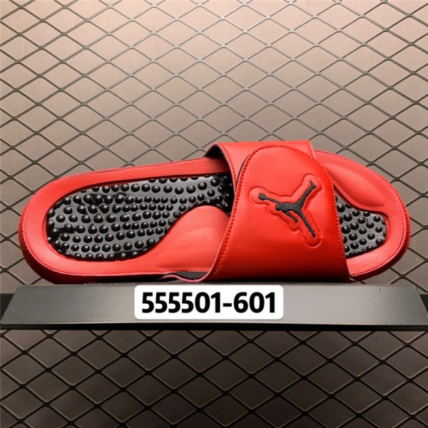 Jordan 5 Retro Hydro University Red/Black Slide Sandals For Men