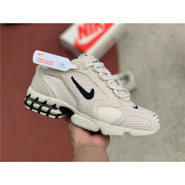 Latest Stussy x Nike Air Zoom Spiridon Cage 2 Fossil