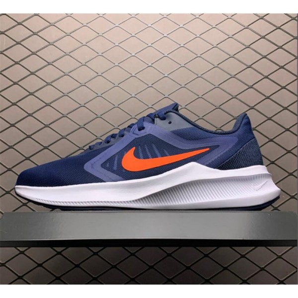 Nike Downshifter 10 Midnight Navy White Orange For Men