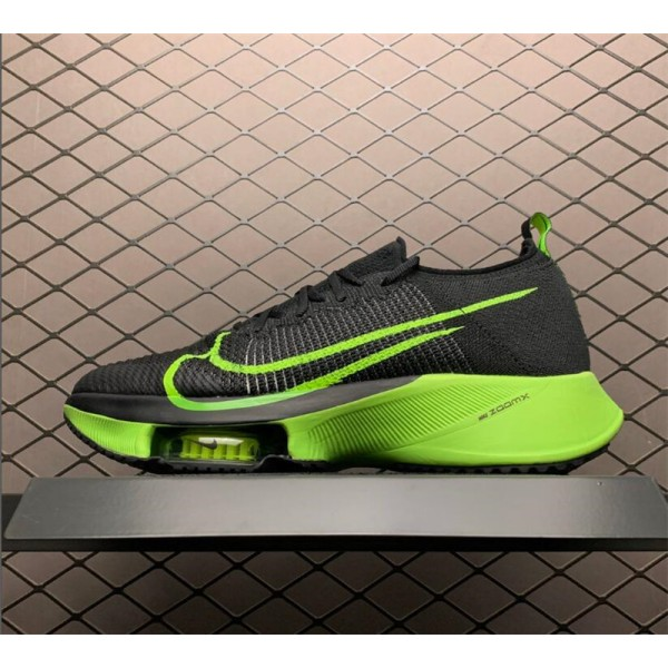 Nike Air Zoom Alphafly NEXT Black-Fluorescent Green For Men