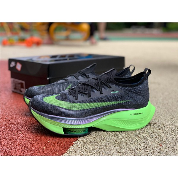 Nike Air Zoom Alphafly NEXT Lime Blast Black Electric Green For Men