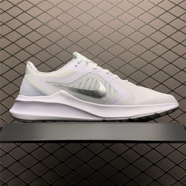 Nike Downshifter 10 White-Metallic Silver