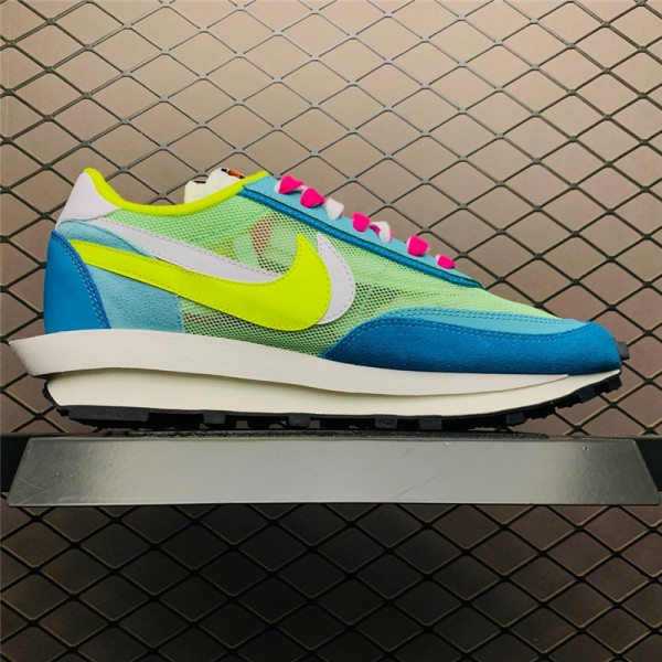 Sacai x Nike LVD Waffle Daybreak Blue Green Yellow White