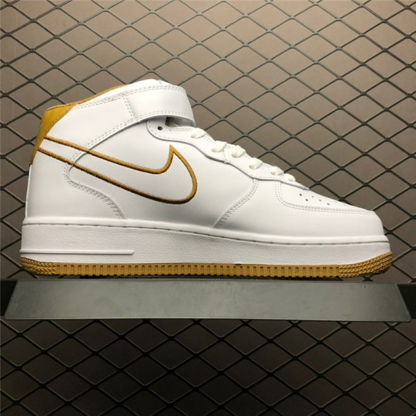Nike Air Force 1 Mid07 LTHR White Muted Bronze