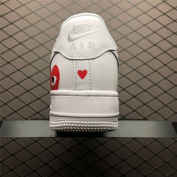 Nike Air Force 1 07 White Red Casual Shoes