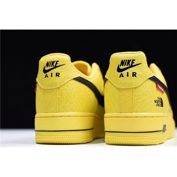 Supreme x The North Face x Nike Air Force 1 Low Yellow