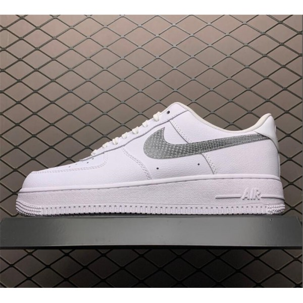 Nike Air Force 1 Low Blue Snakeskin Pony Hair Swooshes