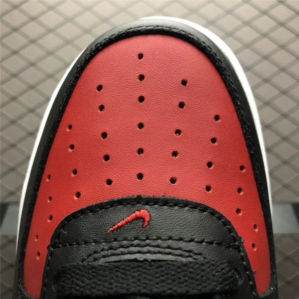 Nike Air Force 1 AF-1 Mid Bred Black and Red For Men