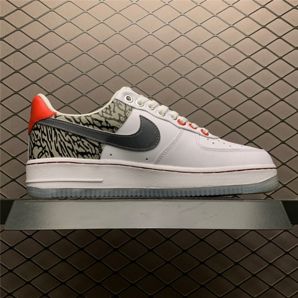 Nike Air Force 107 Low White Sliver For Men