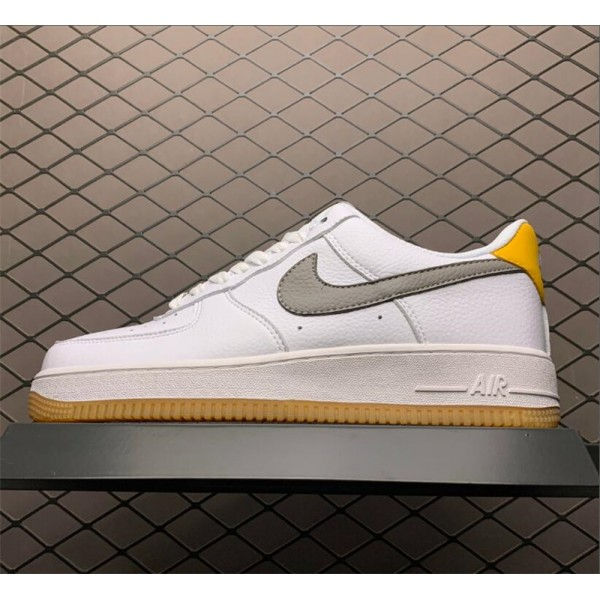 Nike AF1 07 White Grey-Yellow CJ8836-100