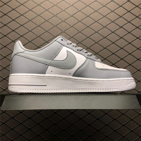 Nike Air Force 1 AF1 Low White Wolf Grey Shoes For Men