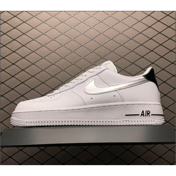 Nike Air Force 1 GS Low White Metallic Silver On Sale