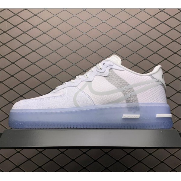 Nike Air Force 1 React Low QS White Ice With Icy Outsole