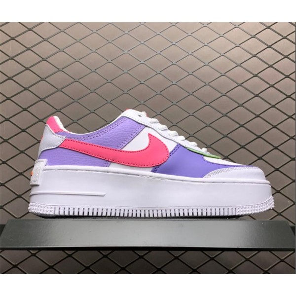 Nike Air Force 1 Shadow White Purple Sneakers CI0919-051 For Women