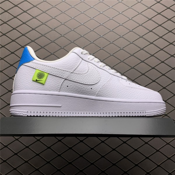 Nike Air Force 107 White Green Blue On Sale