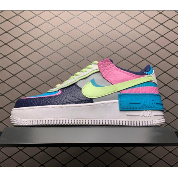 Nike AF1 Air Force 1 Shadow Barely Volt Oracle Aqua For Women