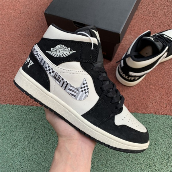 Air Jordan 1 Mid SE BHM Equality White Black