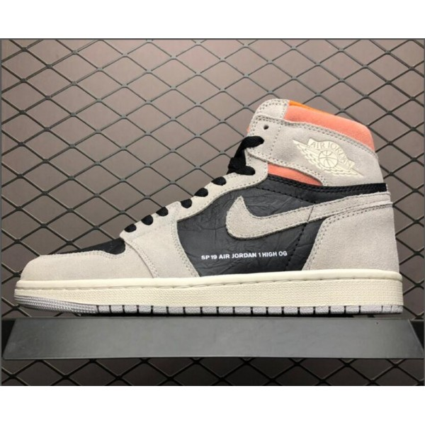 Air Jordan 1 Retro High OG Neutral Grey/Hyper For Men