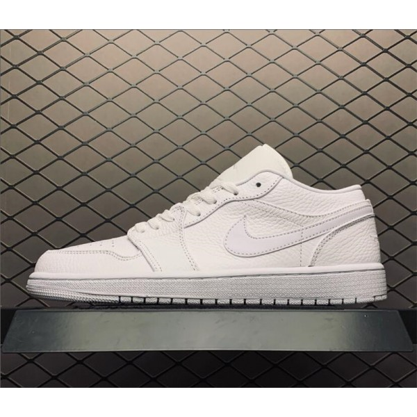 Summer Air Jordan 1 Low Triple White Shoes