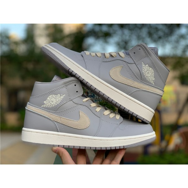 Air Jordan 1 Mid Cool Grey/Light Bone CD7240-002 For Men
