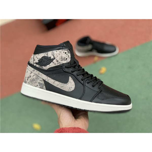 Air Jordan 1 Retro High Premium Snakeskin Black White For Men