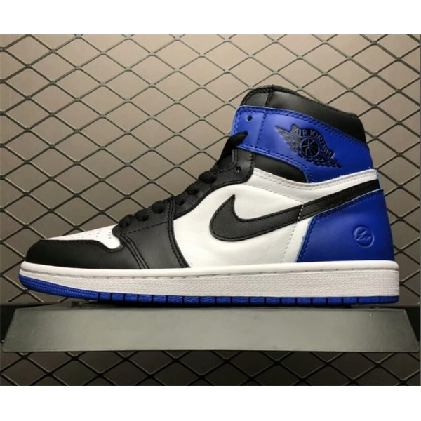 Air Jordan 1 x Fragment Design White/Sport Royal-Black For Men