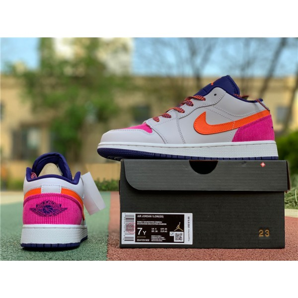 Air Jordan 1 Low Pink Corduroy For Women