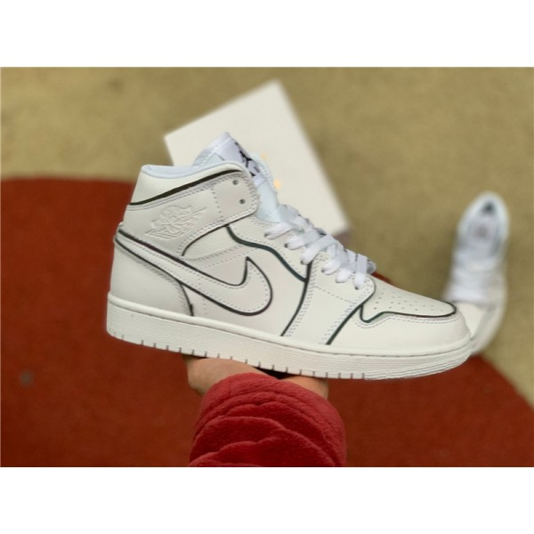 Nike Air Jordan 1 Mid Iridescent Reflective White