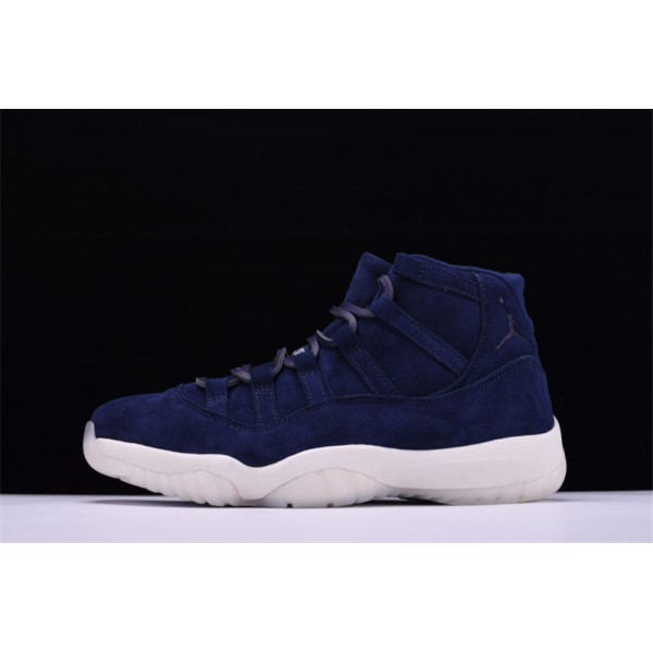 Derek Jeter's Air Jordan 11 Retro RE2PECT Navy Suede For Sale For Men