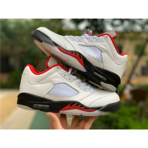 New Air Jordan 5 Low Golf Fire Red Shoes For Men