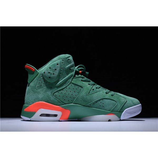 Air Jordan 6 Retro Gatorade Green Team Orange-Summit White For Men