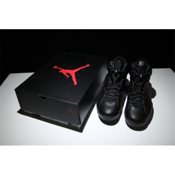 Air Jordan 6 Black Cat Black White Brand Sneakers