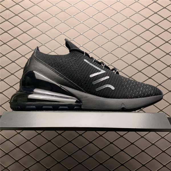 Nike Air Max 270 Flyknit Triple Black For Men