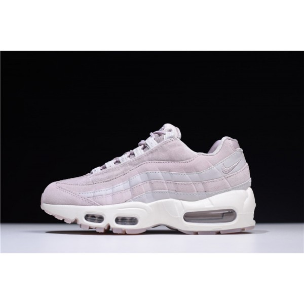 Nike Air Max 95 Deluxe Particle Rose Vast Grey Summit White For Women
