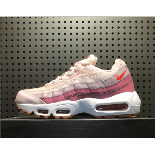 Nike Air Max 95 Barely Rose Hot Punch-Vintage Wine-White For Women