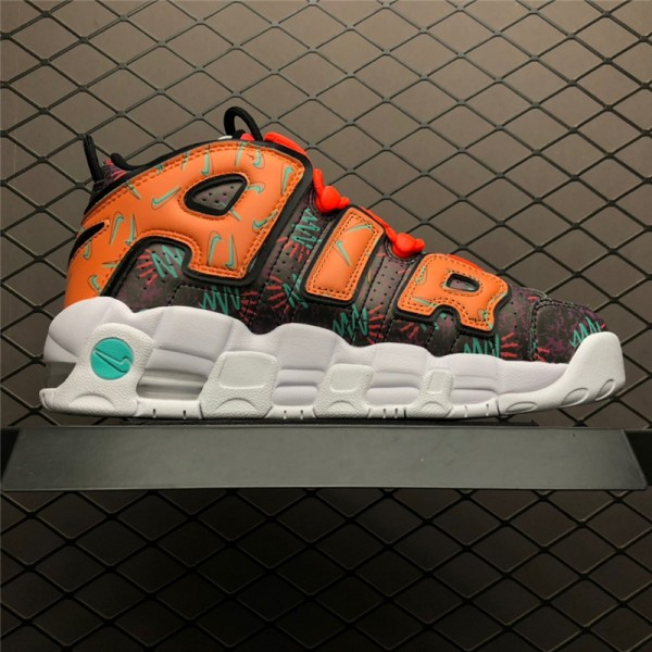 Nike Air More Uptempo What The 90s Total Orange Black-Hyper For Women