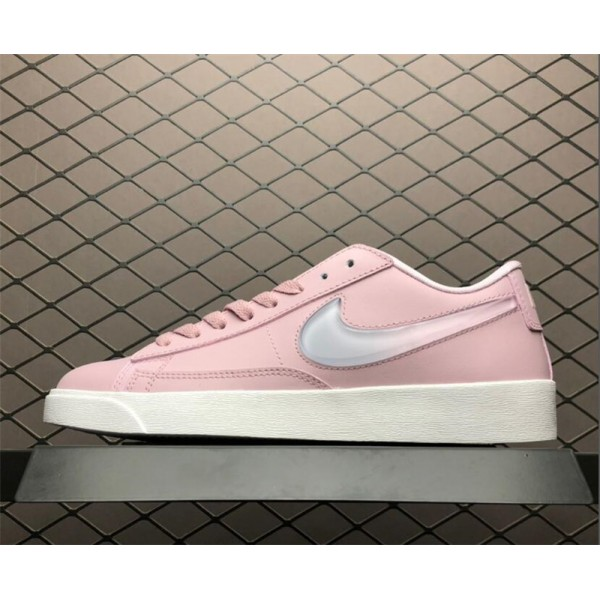 Nike Blazer Low Jelly Swoosh Plum Chalk Pink White For Women