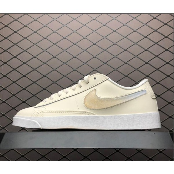 Nike Blazer Low Lux Premium Pale Ivory Summit White Guava Ice For Women