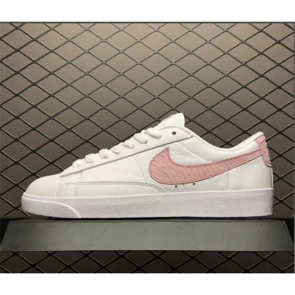 Nike Blazer Low SE PRM White Pink AA1557-116 For Women
