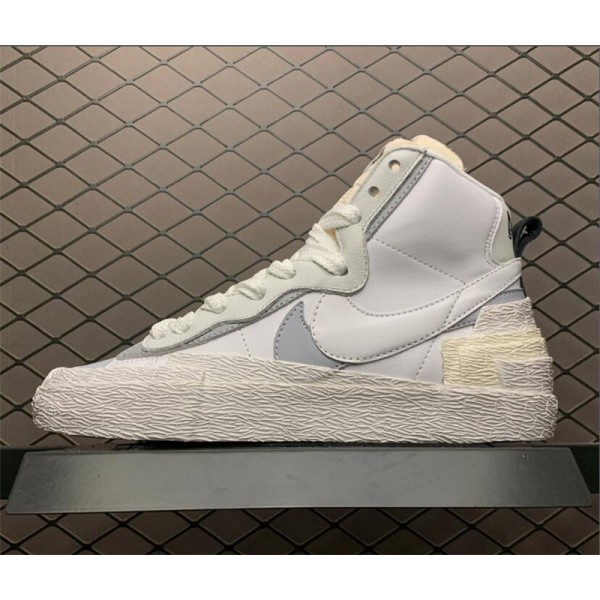 Sacai x Nike Blazer Mid White Grey Shoes For Men