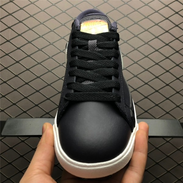 Nike Blazer Low Jelly Swoosh Black White AV9371-002 For Women
