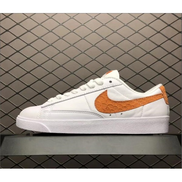 Nike Blazer Low PRM White Orange 454471-118 For Women