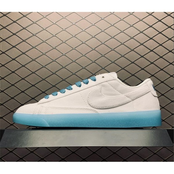 Nike Blazer Low Sky Blue White AV9371-118 For Women