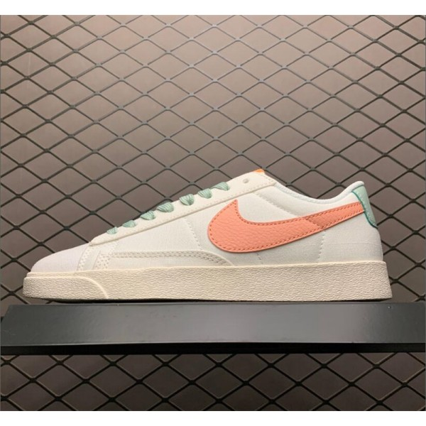 Nike Blazer Low Beige Orange AV9371-605 For Women