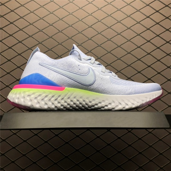 Nike Epic React Flyknit 2 Hydrogen Blue Sapphire Hyper Pink For Men