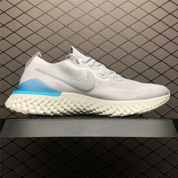 Nike Epic React Flyknit 2 Vast Grey Blue Sail Running Shoes For Men