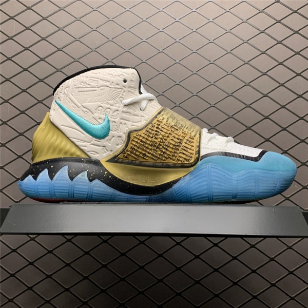 Concepts x Nike Kyrie 6 EP Light Aqua Metallic Gold For Men