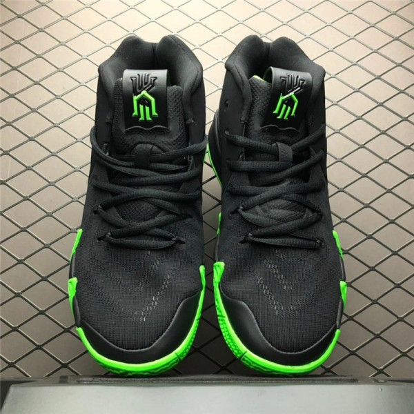 Nike Kyrie 4 Halloween Black Rage Green For Men